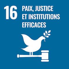 16 Paix, justice et institutions efficaces